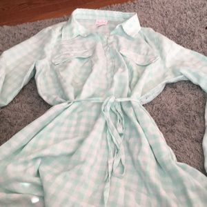 Mint Green maternity flannel tunic